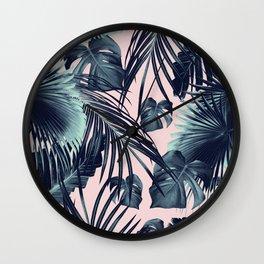 Tropical Jungle Leaves Dream #2 #tropical #decor #art #society6 Wall Clock