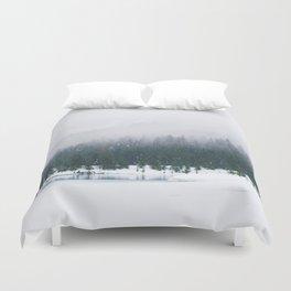 Evergreen Winter Forest (Color) Duvet Cover