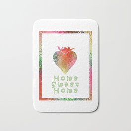 Home Sweetest Home -Typography Bath Mat
