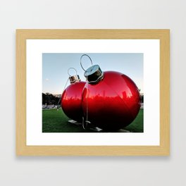 Great Balls of Christmas! Framed Art Print