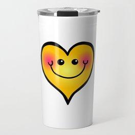 Happy Smiling Heart Shape Travel Mug