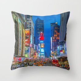 Times Square (Broadway) Throw Pillow