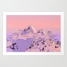 Peach Sunset Art Print