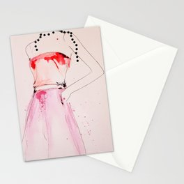About A Pearl - Fashion illustration by Leigh Viner  Stationery Cards