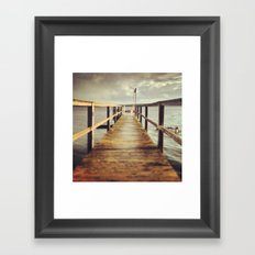 Sunset Dock Framed Art Print