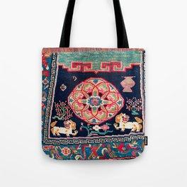 Shigatse Makden South Tibetan Buddhist Saddle Cover Print Tote Bag