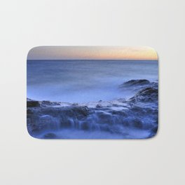 Blue seaside Bath Mat