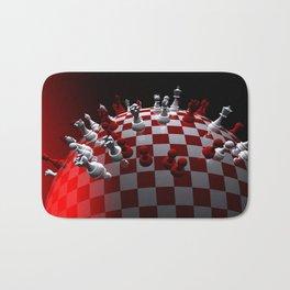 chess fantasy red Bath Mat