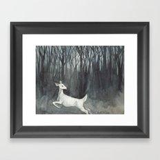 Ghost Doe Framed Art Print