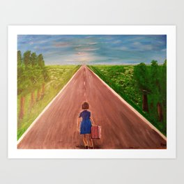 Going Home Now Art Print