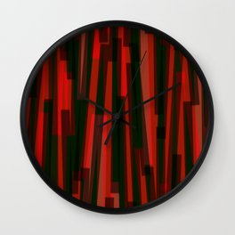 Geometric Blue Black Red Painting Wall Clock