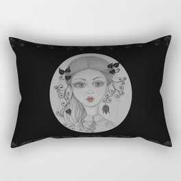 Big eyed Julie Rectangular Pillow