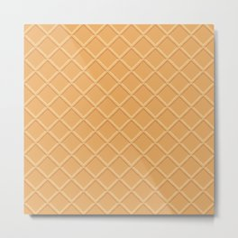 Wafer Texture - Food Pattern Metal Print