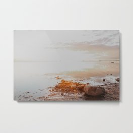 Warm sunset at the beach | Lomma. Skane. Sweden. Metal Print