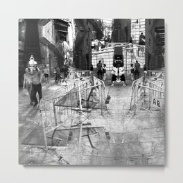 Summer space, smelting selves, simmer shimmers. 22, grayscale version Metal Print
