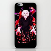 tokyo ghoul iPhone & iPod Skins featuring Kaneki Tokyo Ghoul 4 by Prince Of Darkness