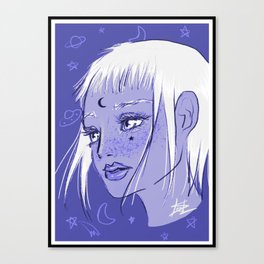 Cosmic Magical Girl Canvas Print