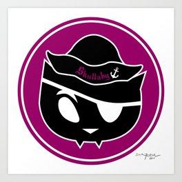 Skullaby Cat Logo Art Print