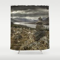 scotland Shower Curtains featuring Scotland by Miguel Cardoso
