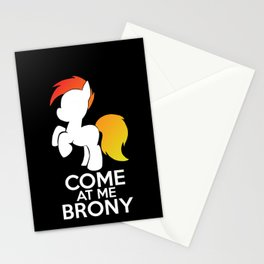 Come at me Brony Stationery Cards