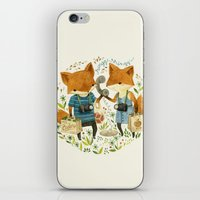 office iPhone & iPod Skins featuring Fox Friends by Teagan White