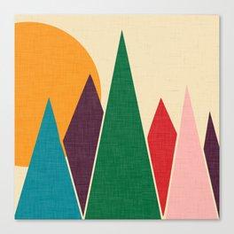 solar mountain #homedecor #midcentury Canvas Print