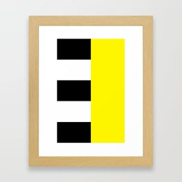 Design6 Yellow Framed Art Print