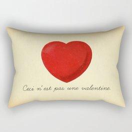 Ceci n'est pas une valentine (this is not a valentine) Rectangular Pillow