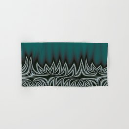 Fractal Tribal Art in Pacific Teal Hand & Bath Towel