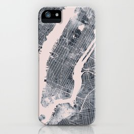 City map abstract iPhone Case