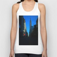 gotham Tank Tops featuring Gotham City by The Electric Blue / YenHsiang Liang