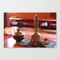 buddhism Canvas Prints featuring Buddhism by raydenxxx