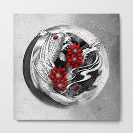 Balance [Yin-yang koi] Metal Print