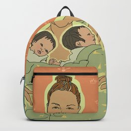 Mother with Twins Backpack