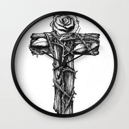 Rose of Grace. Wall Clock