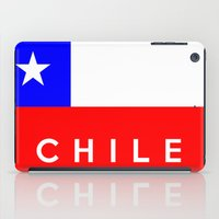 chile iPad Cases featuring Chile country flag name text by tony tudor