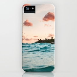 Waves at the sunset iPhone Case