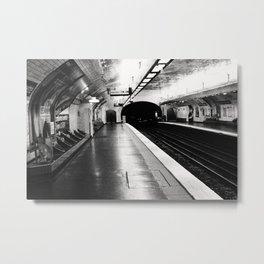 Paris Subway Stop Notre Dame de Lorette Metal Print