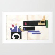 sketchbook collage Art Print