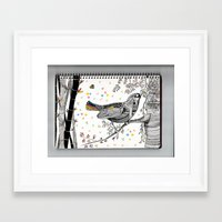 china Framed Art Prints featuring CHINA by FRAN MONDELLO