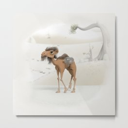 Camel carrying fish. Metal Print