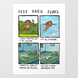 Deep Dark Fears 131 Art Print