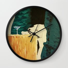 sleepy puppy Wall Clock