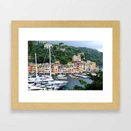 Portofino Harbour Italy Framed Art Print