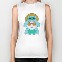 tina crespo Biker Tanks featuring Tina Tanuki by Sonya Saturday