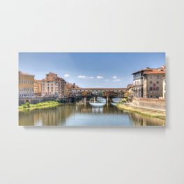 The Ponte Vecchio Metal Print