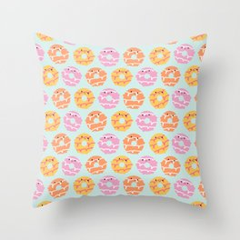 Kawaii Party Rings Biscuits Throw Pillow