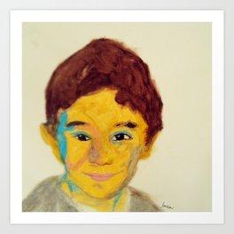 Jordan #facesilove Art Print