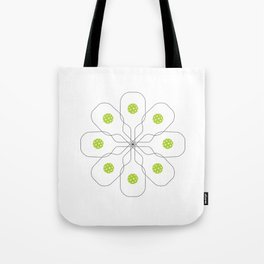 Pickleball Paddle Ball Pattern Tote Bag
