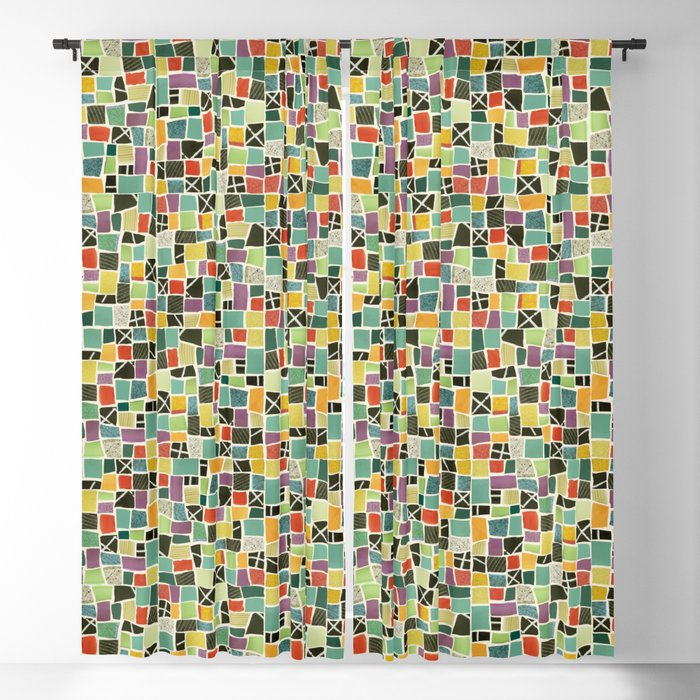 Square On Mosaic Blackout Curtain